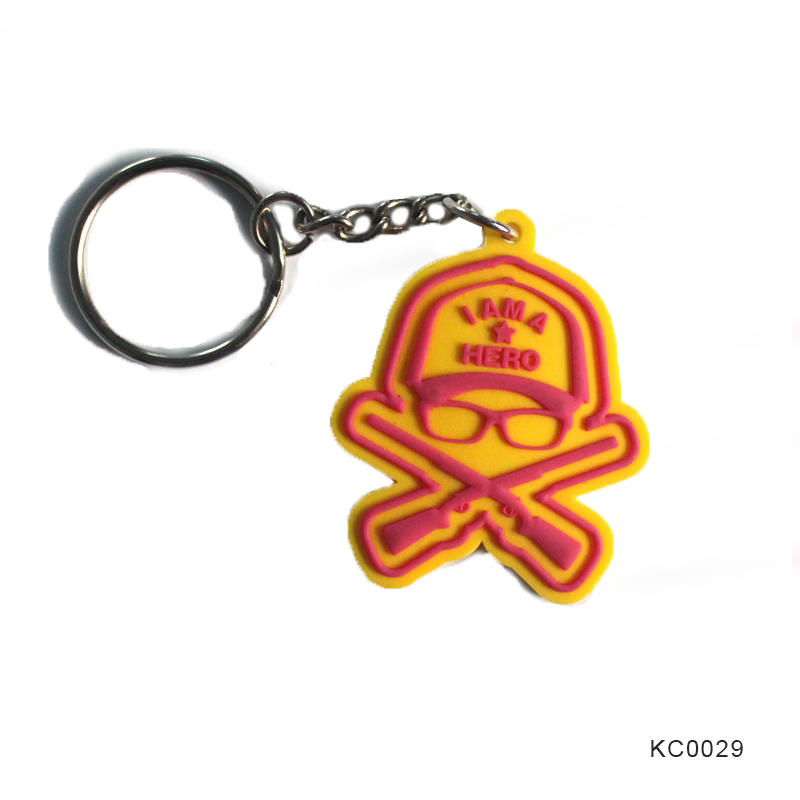 Promotional gift Custom Design World Cup PVC Keychain