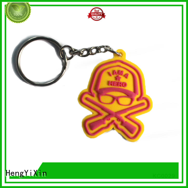 HengYiXin Brand customized pvc custom pvc keychains gift