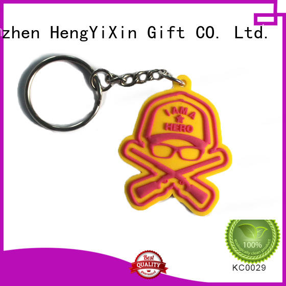 Custom customized pvc keyring pvc HengYiXin