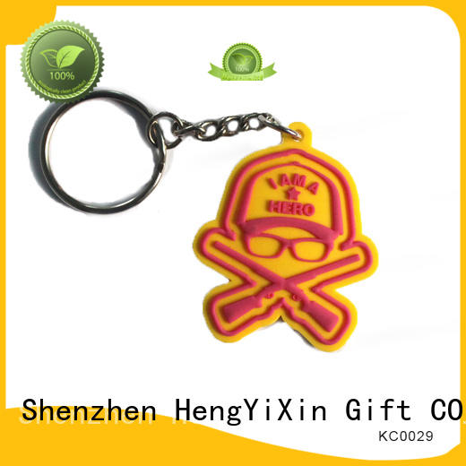 HengYiXin Brand customized design promotional custom custom pvc keychains