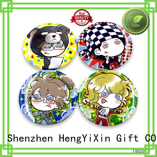 HengYiXin promotional button badge factory for gift