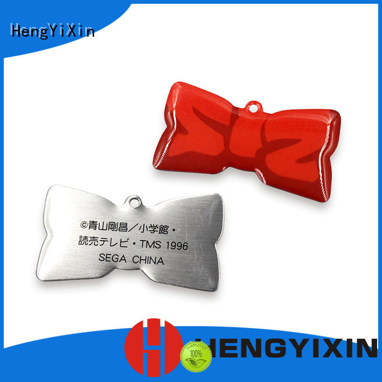 promotional Custom zinc alloy metal badge HengYiXin gift