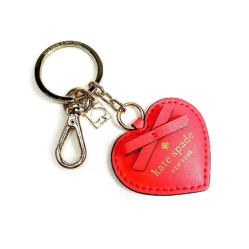 Valentines Gift PU Leather Heart shape keychain for Birthday Party