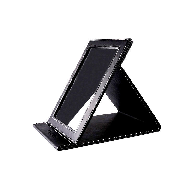 Women's gift PU foldable mirror