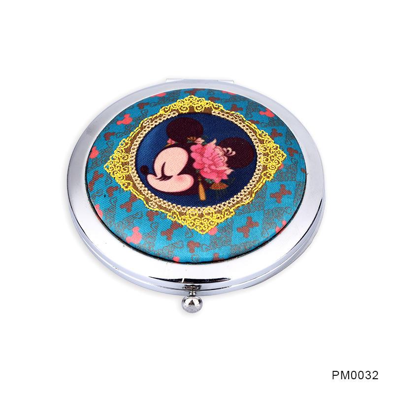 Women's gift fabric vanity mirror