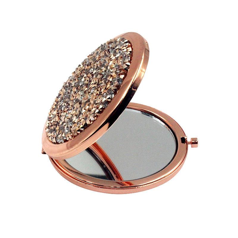 Women's gift Gold pocket mirror