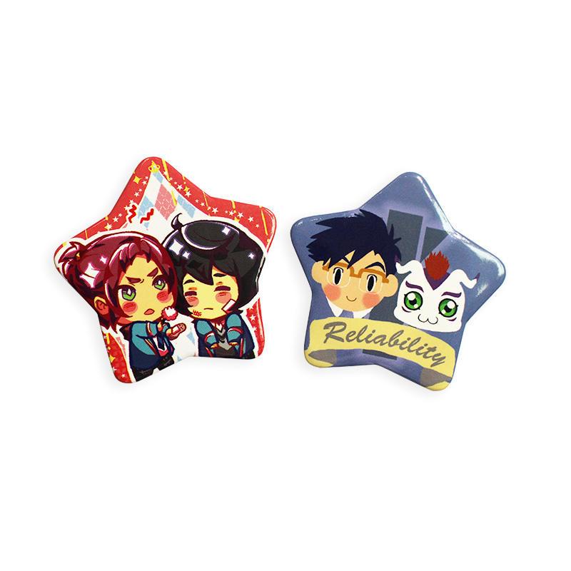 Promotional Gift Customized Star Shaped Badge