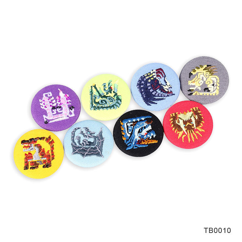 Promotional gift Fabric Covering Embroidery Badges