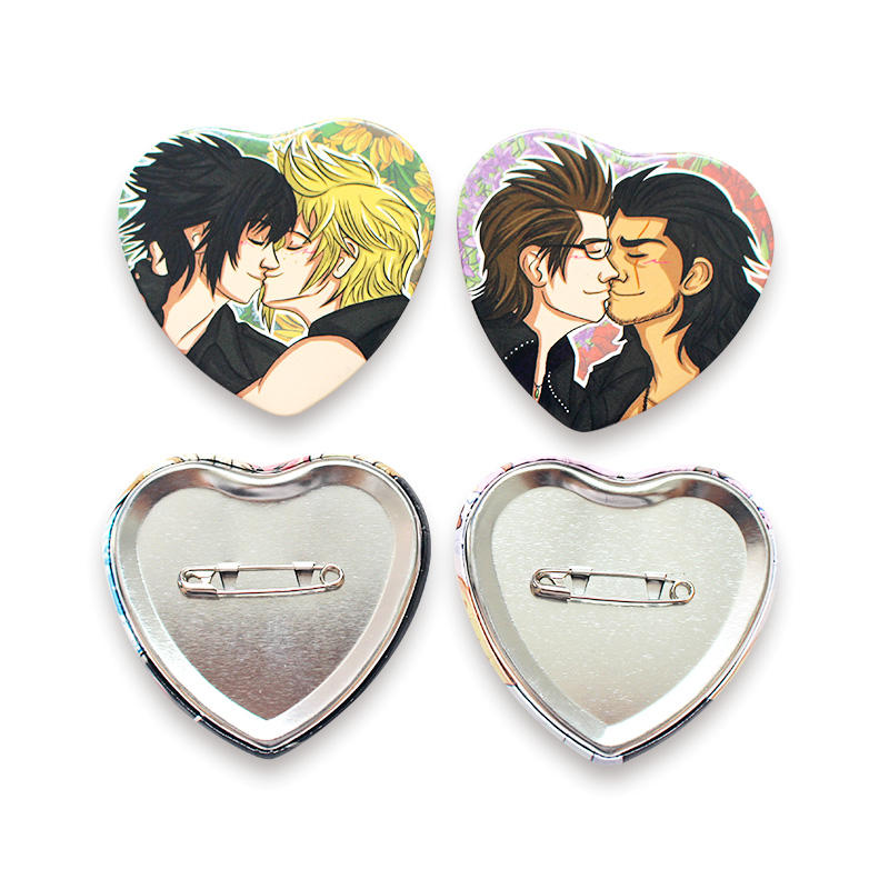 Promotional Gift Heart Badge Button