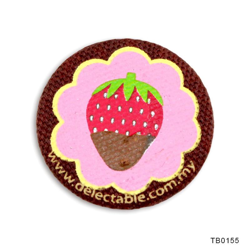 Promotional gift Silkscreen Cloth Button Badge