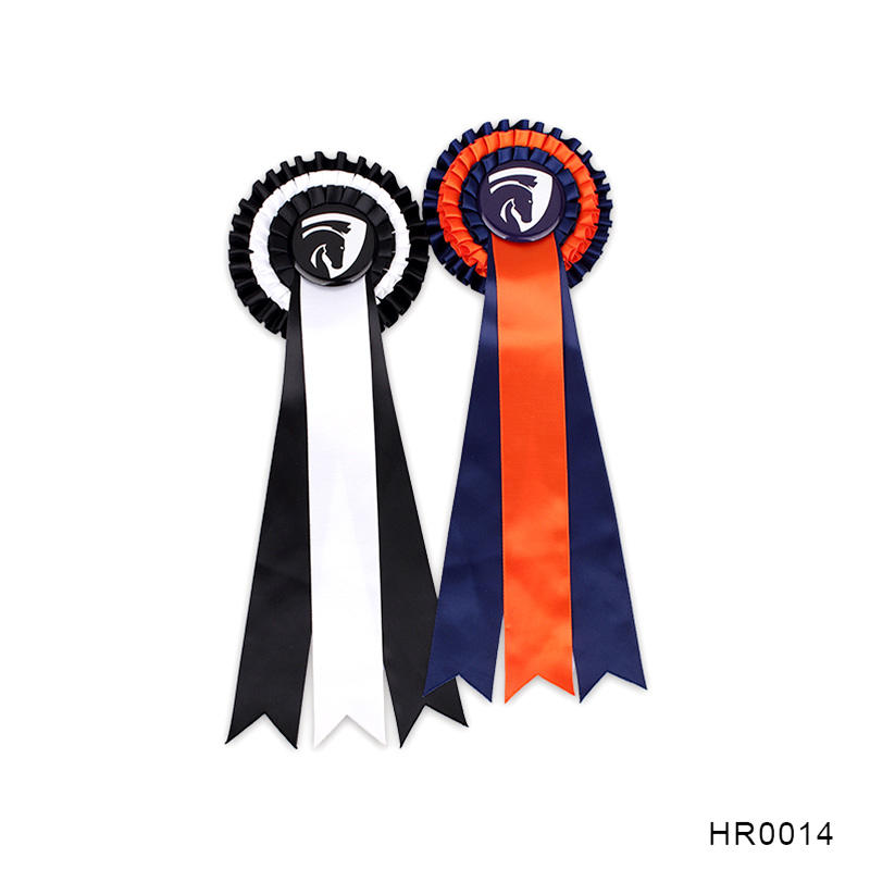 Party gift three layer award ribbon for Horse Show