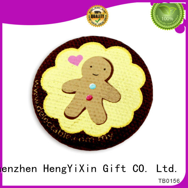 metal embroidery covering HengYiXin Brand badge button supplier