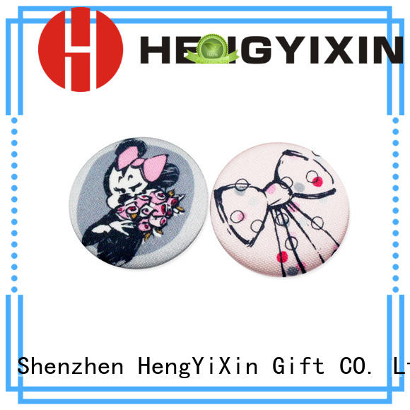 HengYiXin Brand woven holographic cute pin badges paper