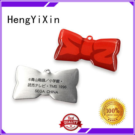 zinc promotional metal badge HengYiXin Brand