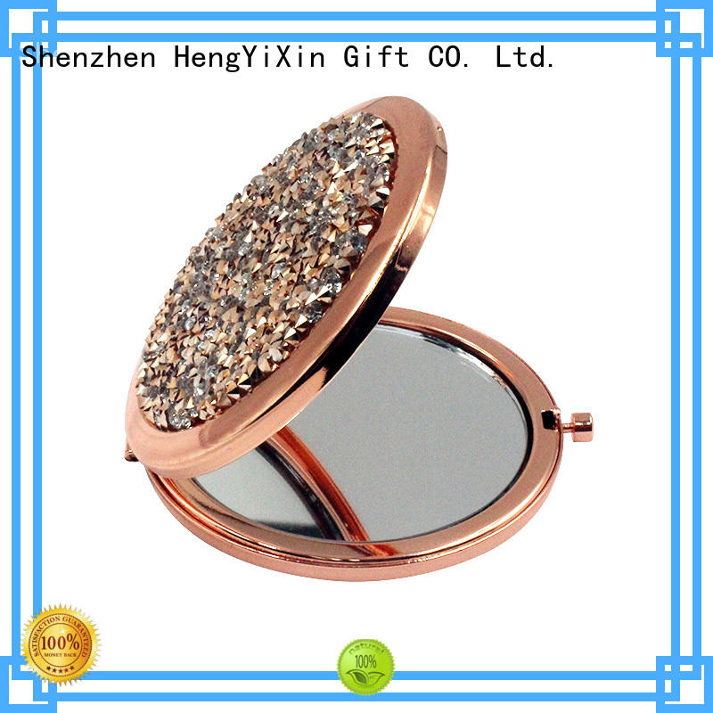 foldable custom pocket mirrors personalized for bedroom HengYiXin