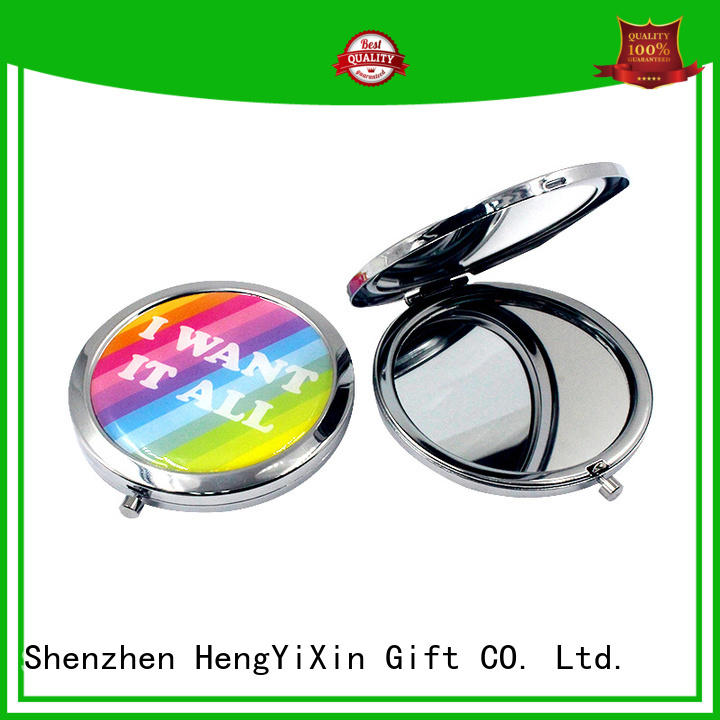 embroidery double sided vanity mirror logo for bedroom HengYiXin