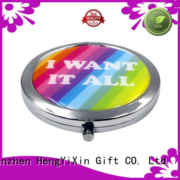 Wholesale vanity double sided makeup mirror pocket HengYiXin Brand