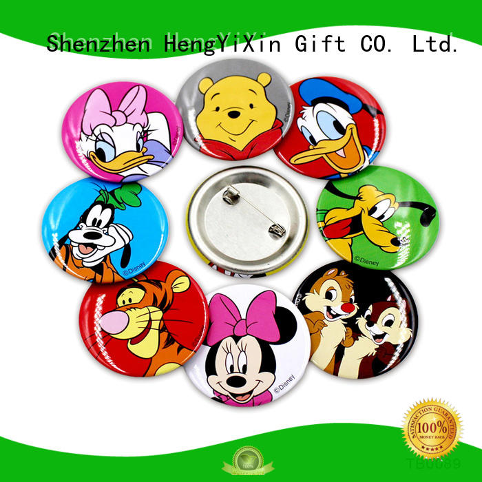cute pin badges woven promotional badge Warranty HengYiXin