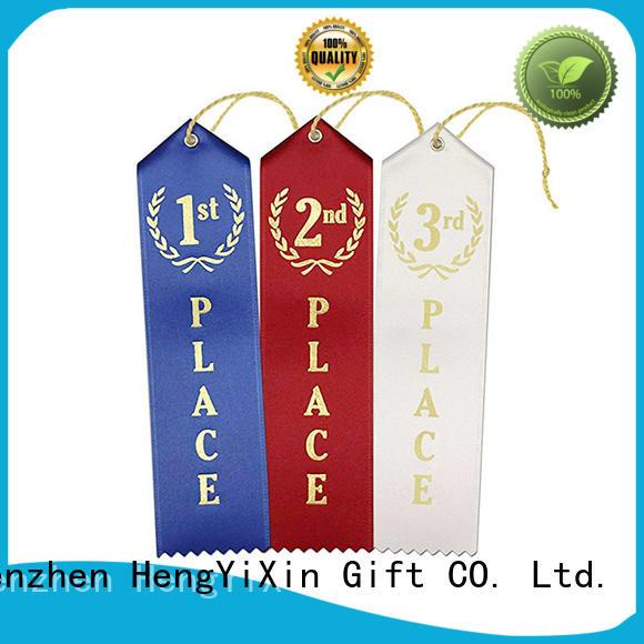 premium Custom 2nd award ribbon show HengYiXin