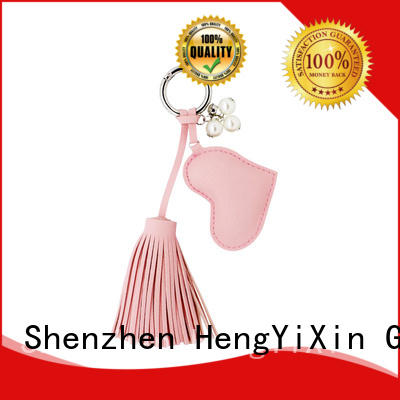 business keychain leather mirror gift HengYiXin Brand