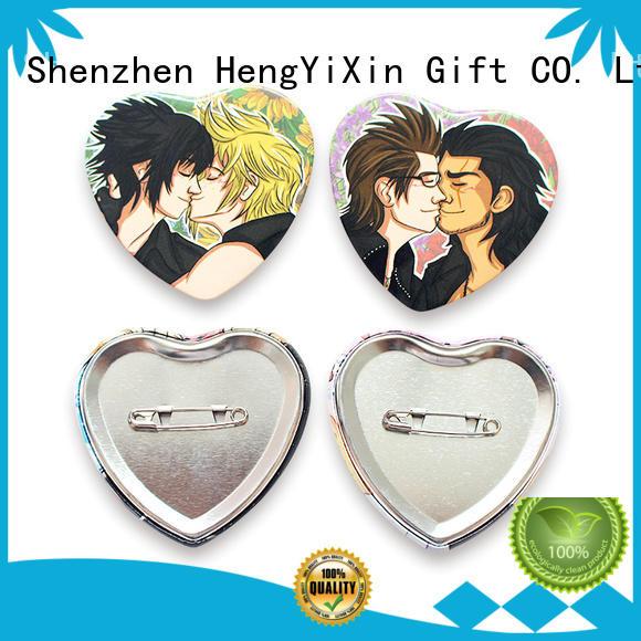 HengYiXin coating pin button badge tinplate for kids