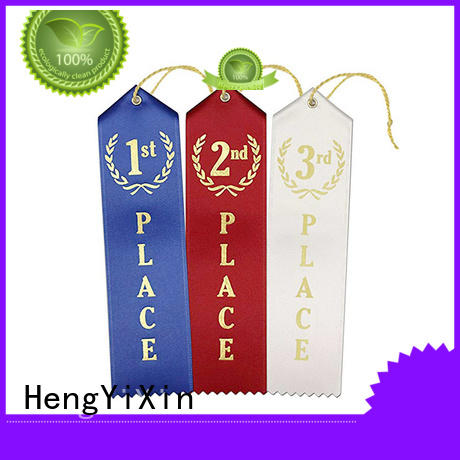 HengYiXin yellow 1st 2nd 3rd place ribbons series for promotion