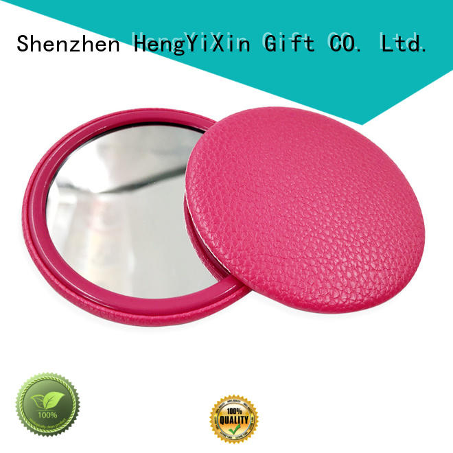 double sided folding mirror badge for bedroom HengYiXin