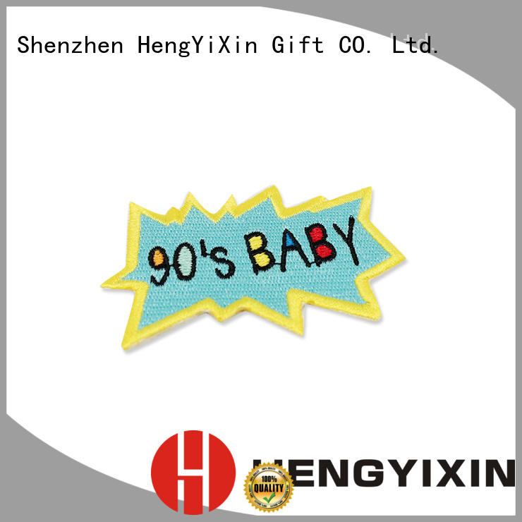 HengYiXin promotional Embroidery Patch figure for children