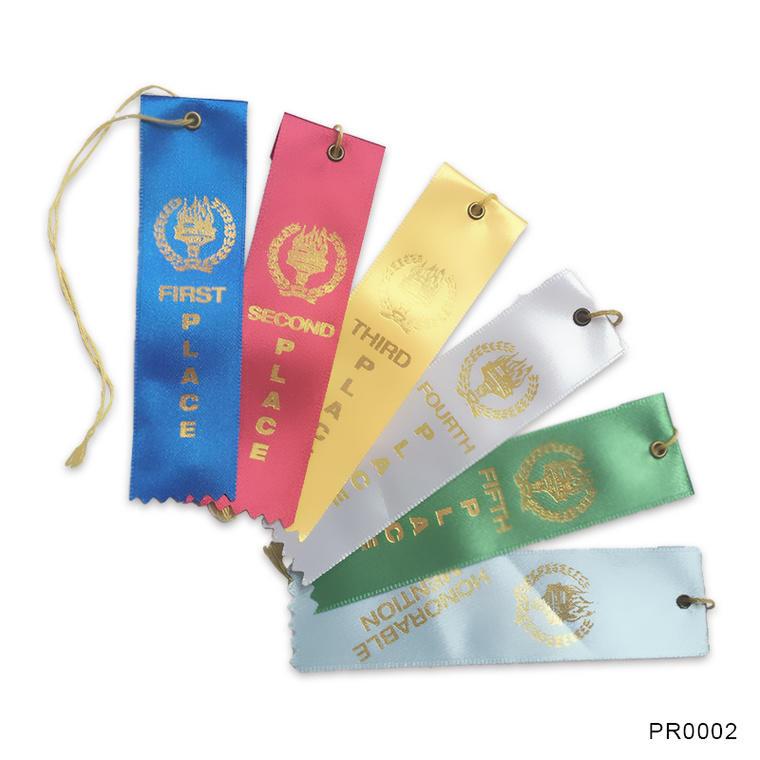 stamping award ribbon design for gift