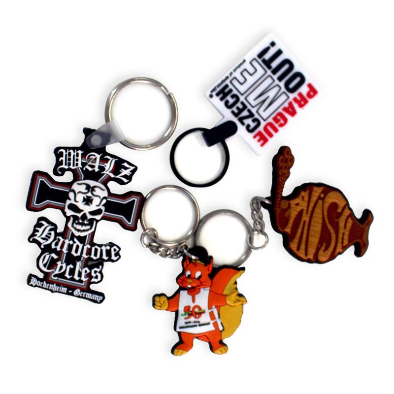 Promotional Gift Keychain Factory Keyring Custom Logo Soft PVC key chain