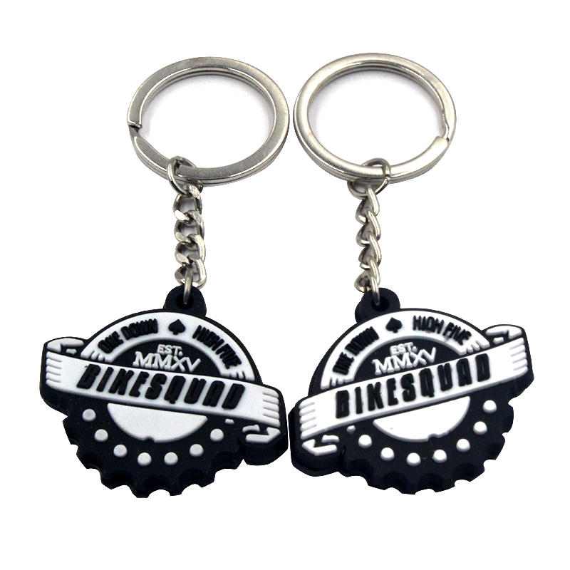 Promotional Gift PVC Keychain Custom 3D Cool Key Ring