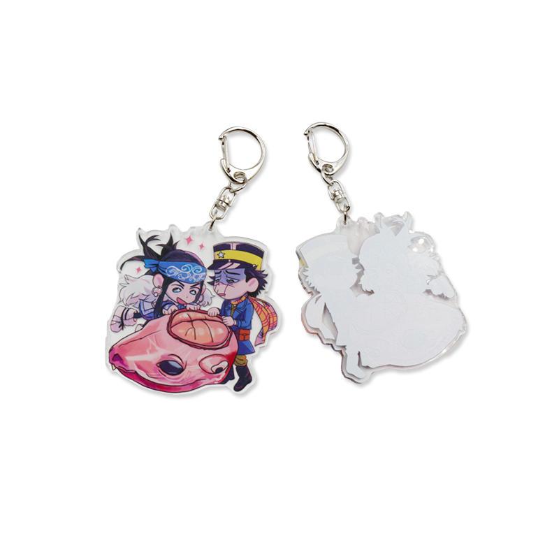 Promotional gift Custom Glitter Anime Acrylic Keychain Character Keychain Figure Key Chains Keyring