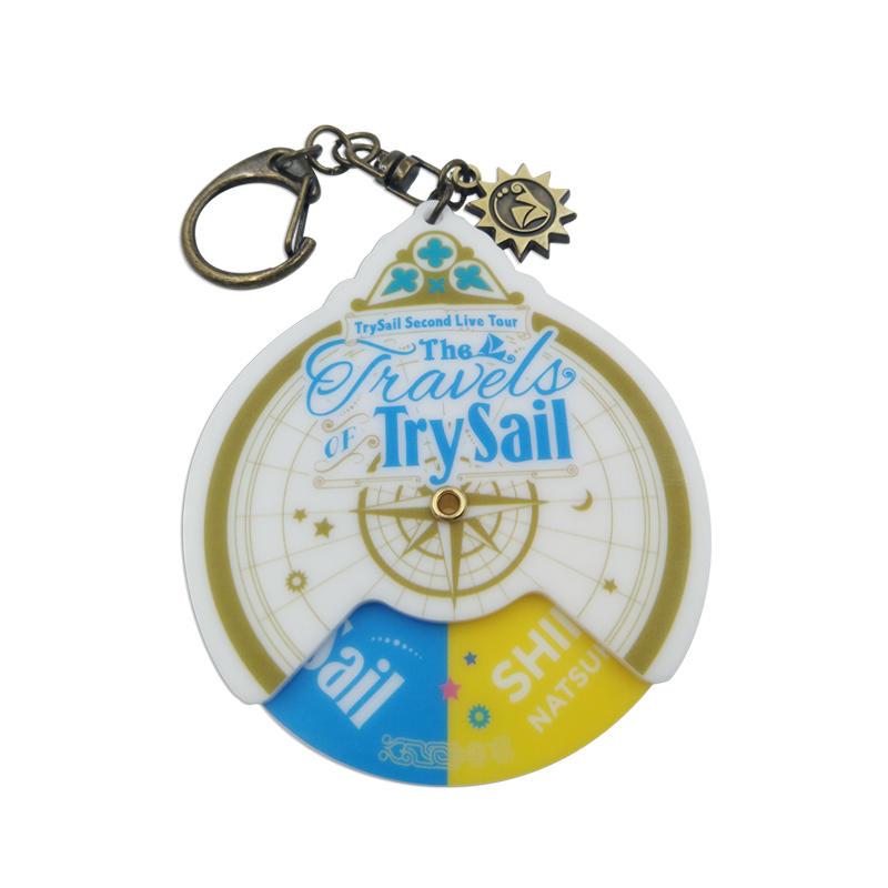 Promotional gift Acrylic Keychain Custom Round Souvenir Metal Stamped Keychain