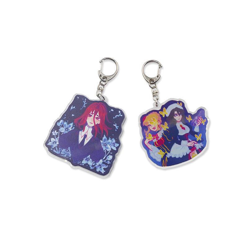 Promotional gift Custom Anime Acrylic Keychain Women Bag Charm Keyring