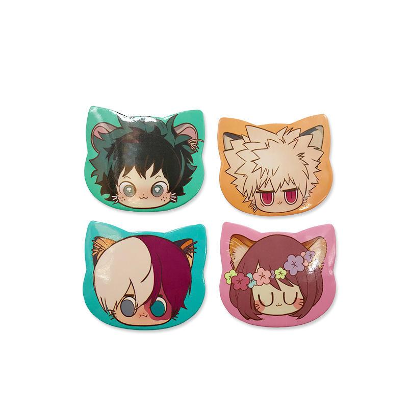 Promotional gift Custom Logo Tin Button Badge Animie Cat Shape pin button