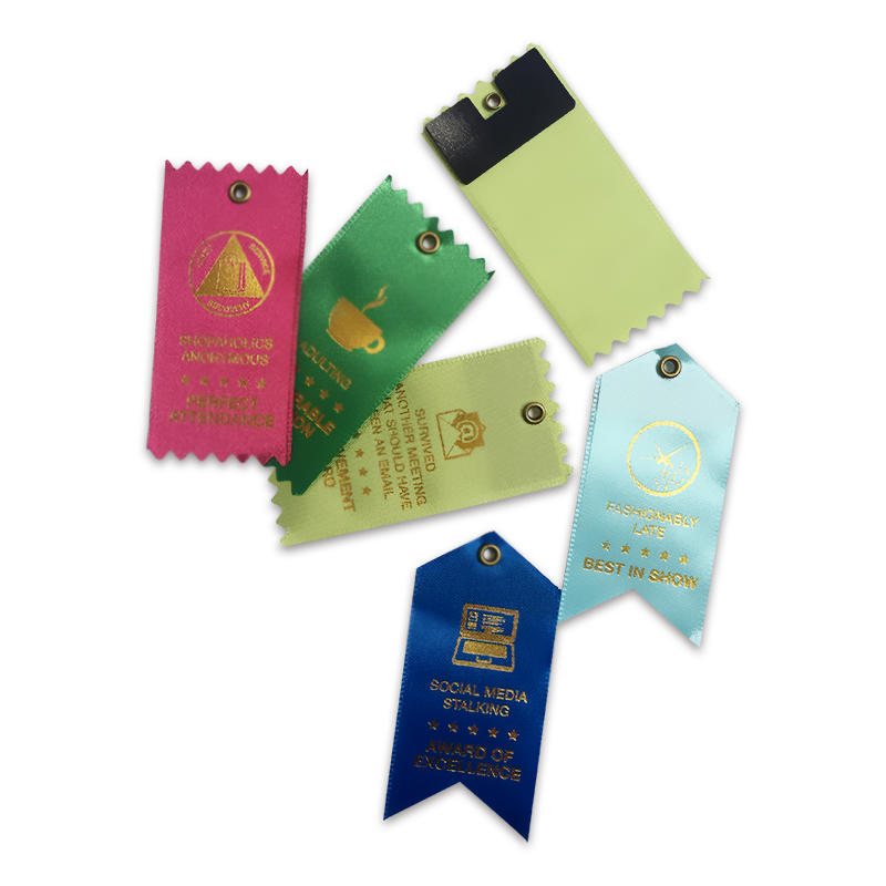 Satin Ribbon Tag Custom Logo Printed Award Ribbon for Sports