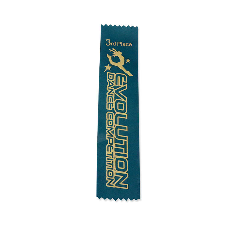 Custom Award Ribbon silkscreen printed polyester sports ribbon