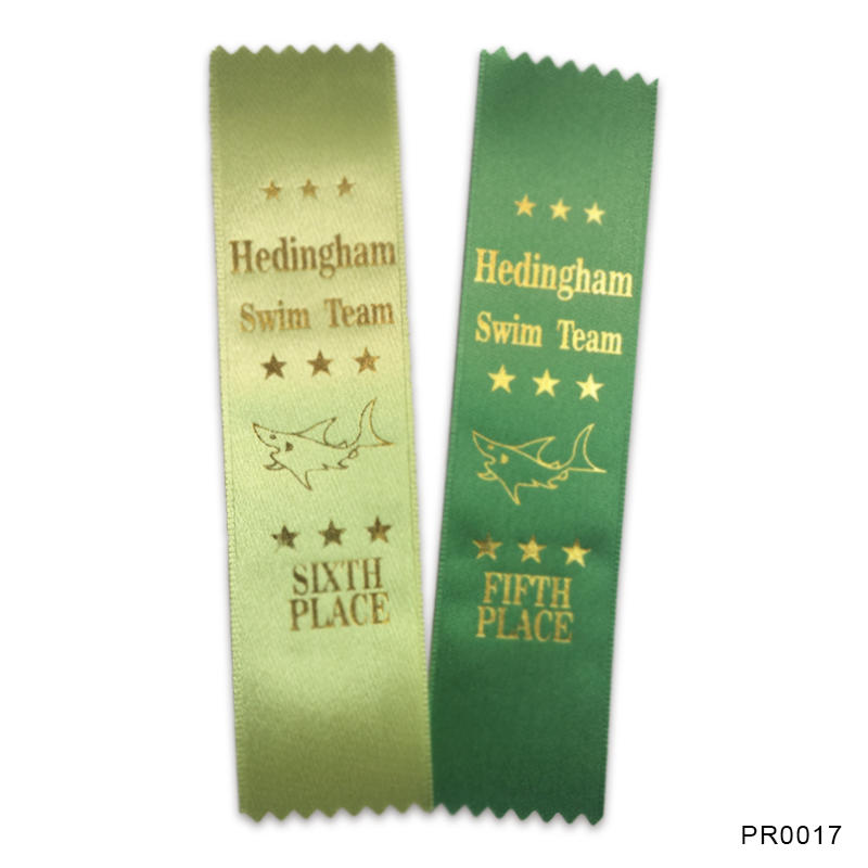 Custom Sports printed award ribbons
