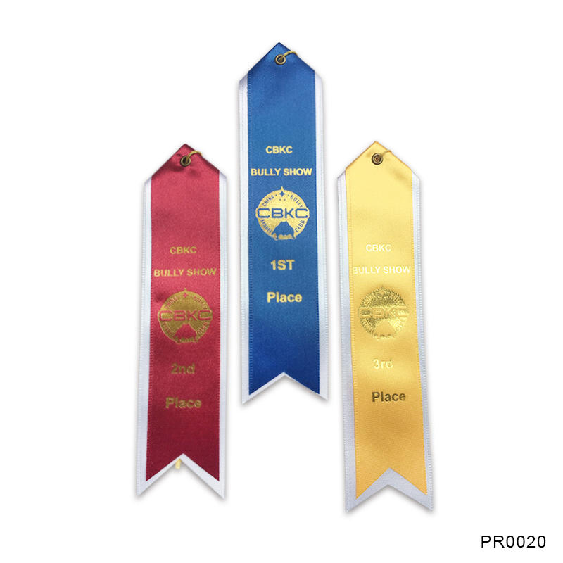 Promotion Custom Printed First Place Award Ribbon for sport competition