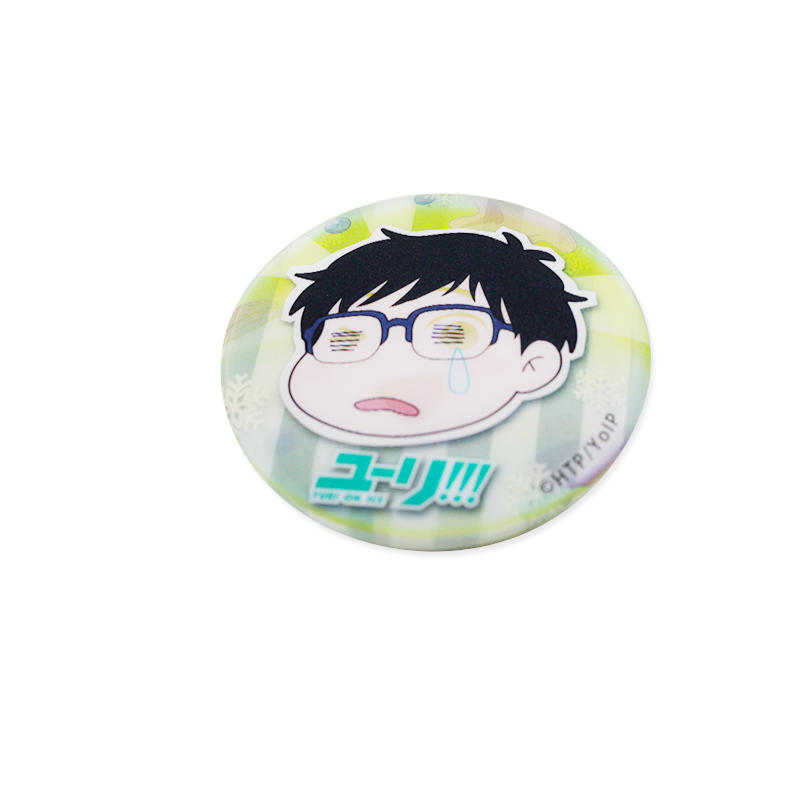 Promotional Gift 3D Lenticular Custom Animie Tinplate Button Badge