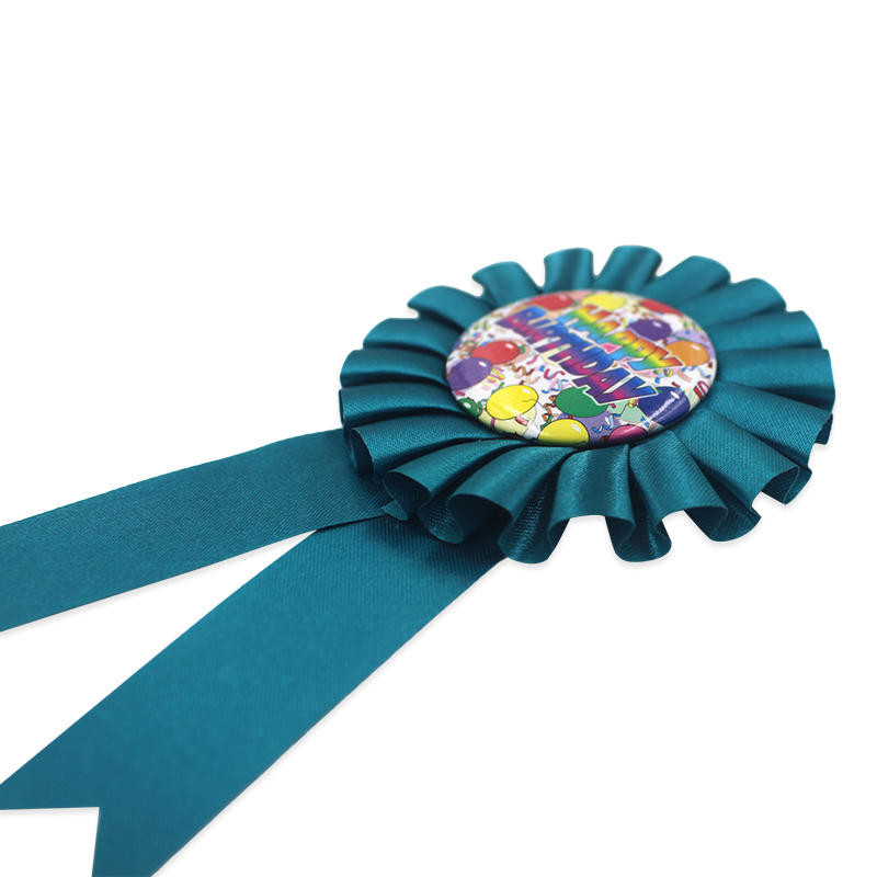 Award Birthday Ribbon Rosette Pin Blank Rosette Branded Ribbo