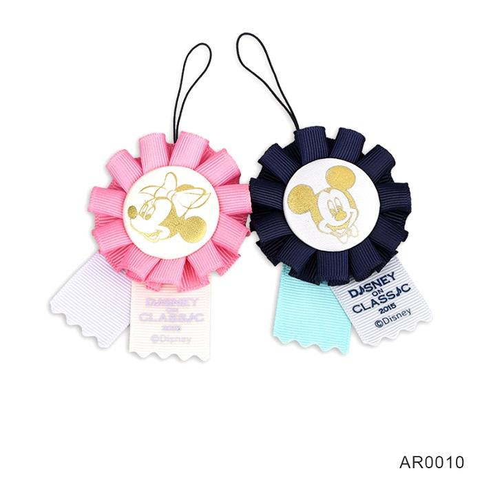 party pink kids award gifts custom button badges ribbon rosettes with string