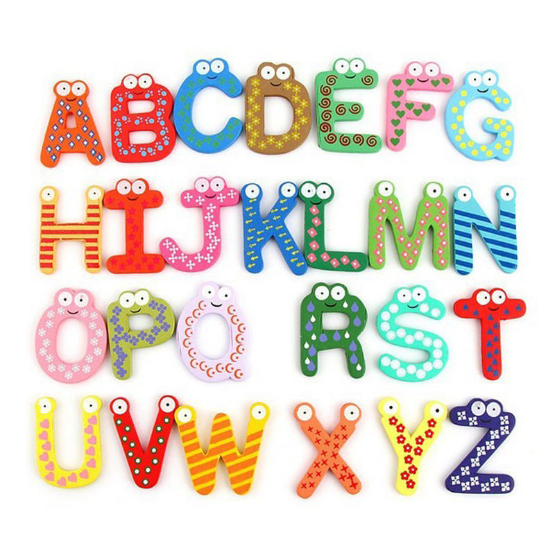 Customised Colorful magnetic Letters Educational Fridge Magnets