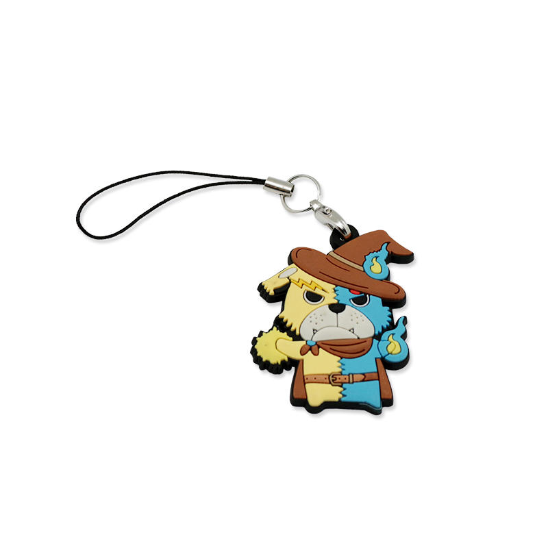 Promotional Gift Anime Figure Key Chain Ring for Kids