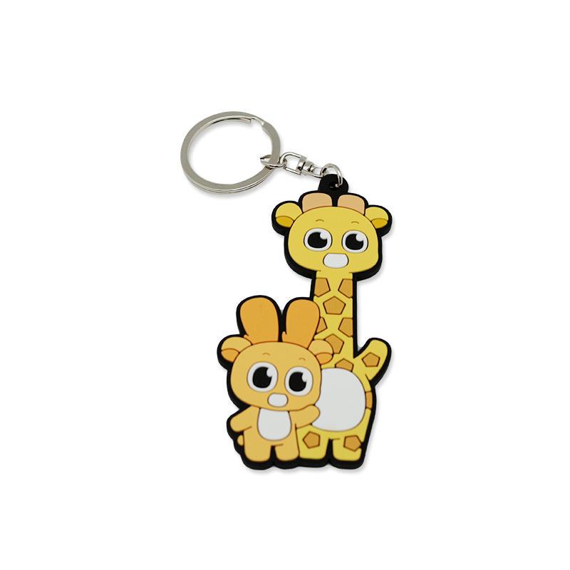 Promotional Gift Cat Key Chain Soft PVC Key Holder for Birthday