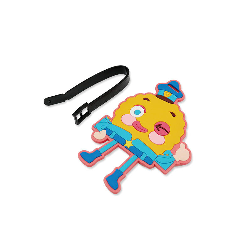 Wholesale Custom Soft PVC Travel Luggage Tag with Plastic Buckle