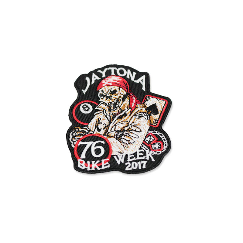 Promotional Custom 3D Cool Ghost embroidery Patch badges Applique clothes patch