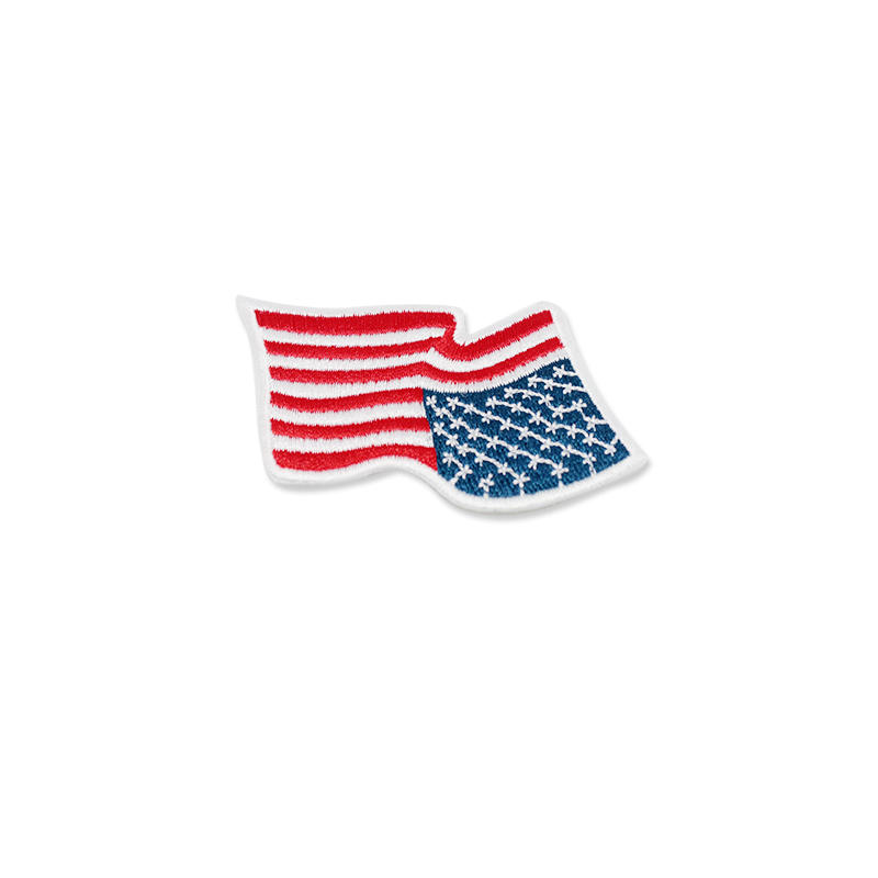 Custom Small Flag Patch Iron on Hat Clothes Embroidery Patches