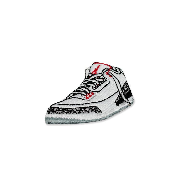 Wholesale Custom 3d Shoe Shaped Embroidered Patches