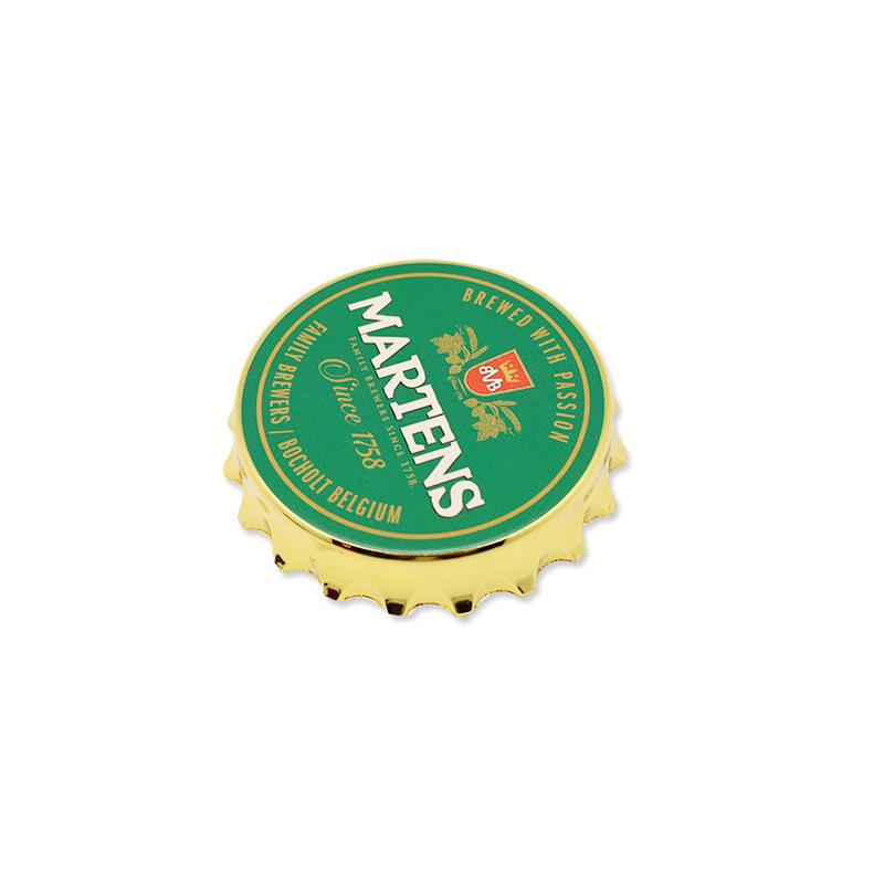 Custom Round Cap Shape Beer Bottle Opener With Fridge Magnet